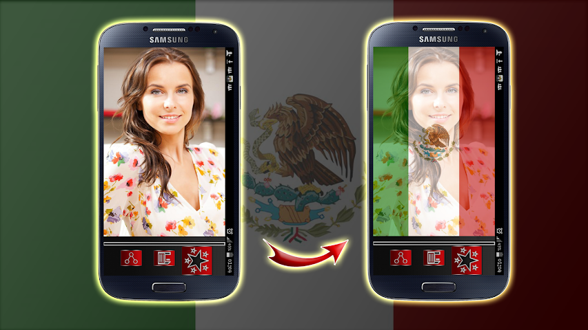 android Mexico Flag Profile Picture Screenshot 6