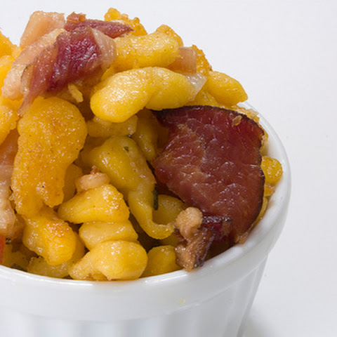 Pumpkin Spaetzle with Bacon