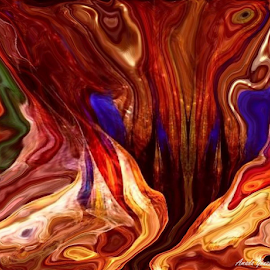 Cavernous by Amada Gonzalez - Painting All Painting ( art, caves, caverns, fluid, abstract )