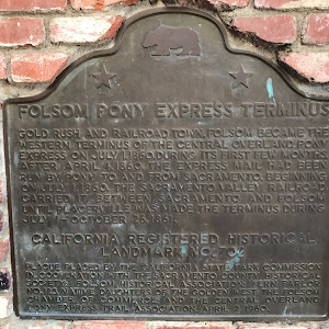 FOLSOM PONY EXPRESS TERMINUS GOLD RUSH AND RAILROAD TOWN FOLSOM BECAME THE WESTERN TERMINUS OF THE CENTRAL OVERLAND PONY EXPRESS ON JULY 1, 1860. DURING ITS FIRST FEW MONTHS, AFTER APRIL 4, 1860, THE ...