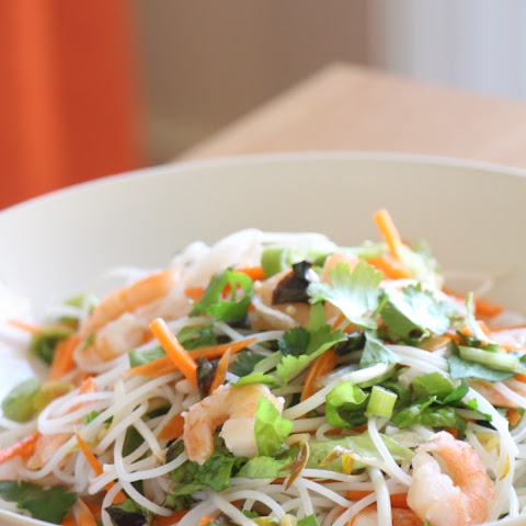 Vietnamese Rice Noodle Salad 越南凉拌米粉 (Oil-Free, Refined Sugar Free)