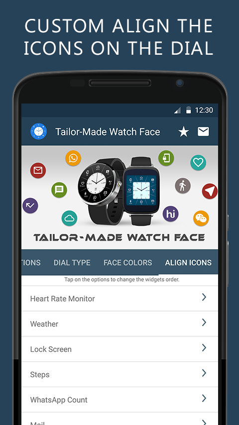 Tailor-Made Watch Face Screenshot 4