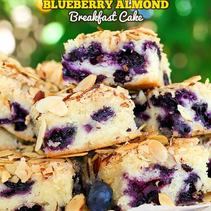 Blueberry Almond Breakfast Cake Recipe | Yummly