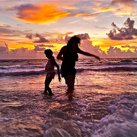 { Dancing in the gulf @ Sunset ~ 26 July }  by Jeffrey Lee - Landscapes Waterscapes ( { dancing in the gulf @ sunset ~ 26 july } )