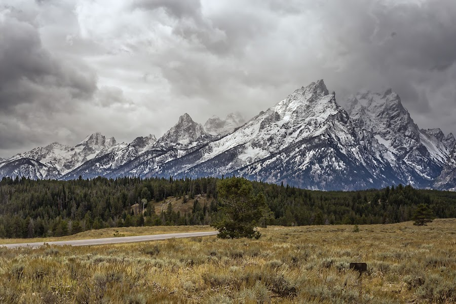 Northern Teton Range by Kevin Whitaker - Landscapes Mountains & Hills ( idaho, mountains, national park, snow, travel photography )