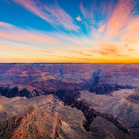 Canyon Sunrise by Matthew Robertson - Landscapes Sunsets & Sunrises ( national park, sunset, beautiful, sunrise, landscape, grand canyon )