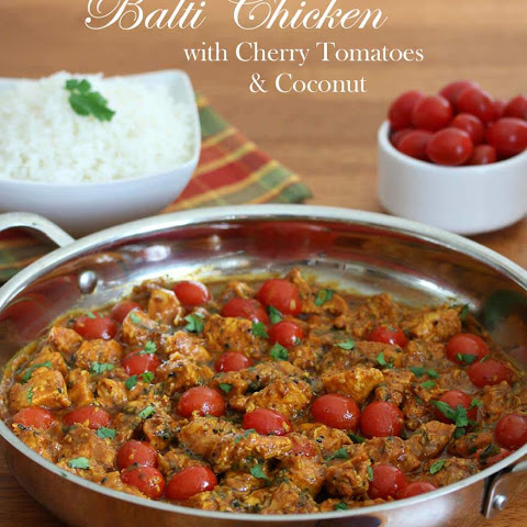 Balti Chicken with Tomatoes and Coconut