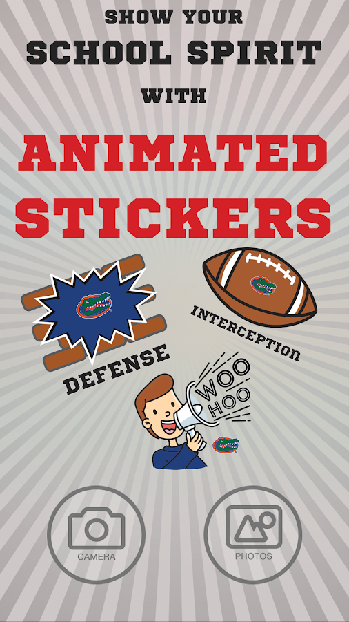 Florida Gators Selfie Aufkleber Animierte android apps download