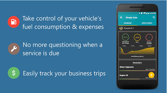 Simply Auto: Car Maintenance & Mileage tracker app for pc