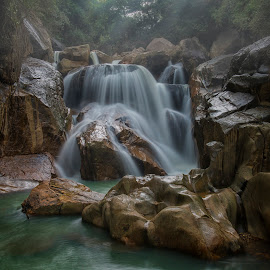 Waterfall by Valeriy Ryasnyanskiy - Landscapes Travel ( waterscape, indochina, waterfall, asia, forest, vietnam, travel, landscape )