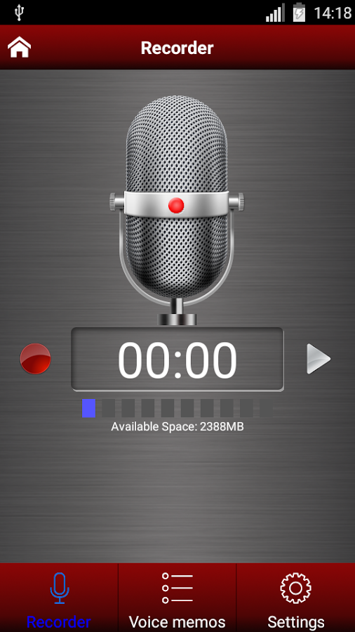 Voice recorder pro Screenshot 0
