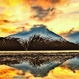 Sunset At 7  by Patricia Phillips - Landscapes Sunsets & Sunrises ( alaska sunsets cook inlet )