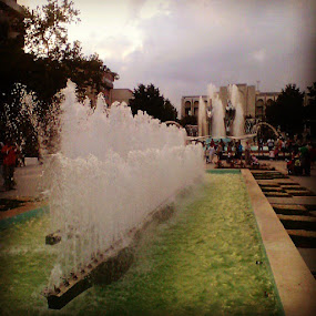 Older photo of fountains. by Gabriel Constantinescu - City,  Street & Park  Fountains