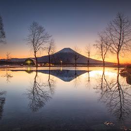 Morning In Mt Fuji by Nurul Anwar - Landscapes Mountains & Hills