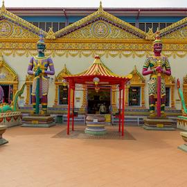 Dhammikarama Burmese Temple Penang by Viorel Stanciu - Buildings & Architecture Places of Worship ( temple, wat chayamangalaram, george town, dhammikarama burmese temple, place of worship, penang, thai, malaysia )