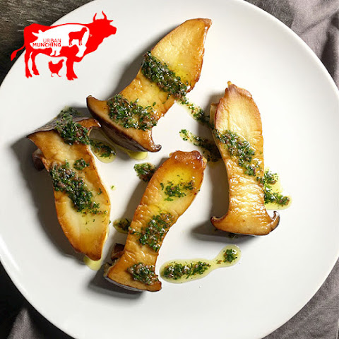 King Oyster Mushroom with Anchovy Parsley Oil