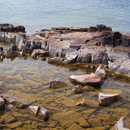 Water Colors by Jon Dyess - Nature Up Close Rock & Stone ( watercolor, superior, colors, lake superior, rocks )