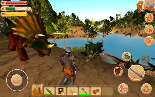 APK Game The Ark of Craft: Dinosaurs Survival Island Series for BB, BlackBerry