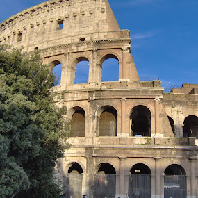Colosseum by Jarno Liimatainen - Buildings & Architecture Public & Historical ( history, holiday, building, rome, sun )