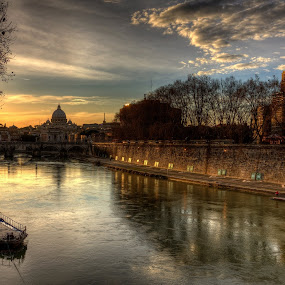 Sunset in Rome by Wojciech Toman - City,  Street & Park  Historic Districts