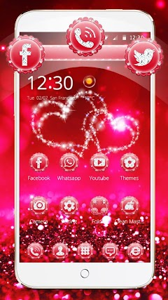 Glitter Love Sparkle Theme Wallpaper
