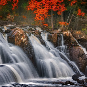 Waterfall In The Autumn Morning by Dragan Milovanovic - Landscapes Waterscapes (  )