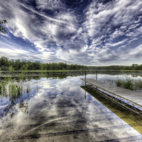 Evening at Murphy Hanrehan Park by Peter Stratmoen - Landscapes Waterscapes ( clouds, minnesota, murphy - hanrehan park reserve, lakes, summer,  )