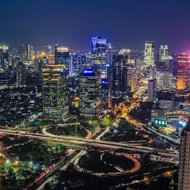 My kind of city by Bernard Tjandra - City,  Street & Park  Night