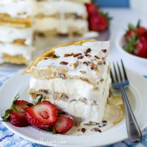 Maple Bacon Waffle Ice Cream Cake