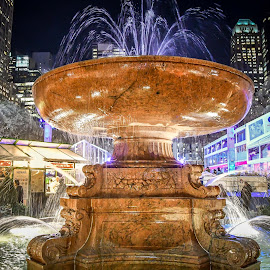 Bryant Park by Darren Sutherland - City,  Street & Park  Fountains ( 2017, trip, new york, new york trips )