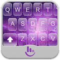 Purple Galaxy Keyboard Theme