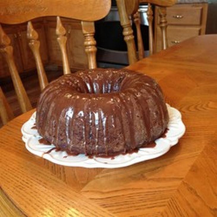 Zucchini Chocolate Rum Cake