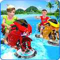 Kids Water Surfing Bike Racing APK for Bluestacks