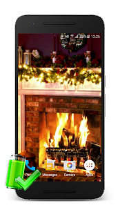 Christmas Fireplace LWP - screenshot