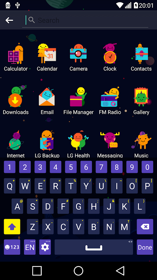Space Theme for LGHome Screenshot 4