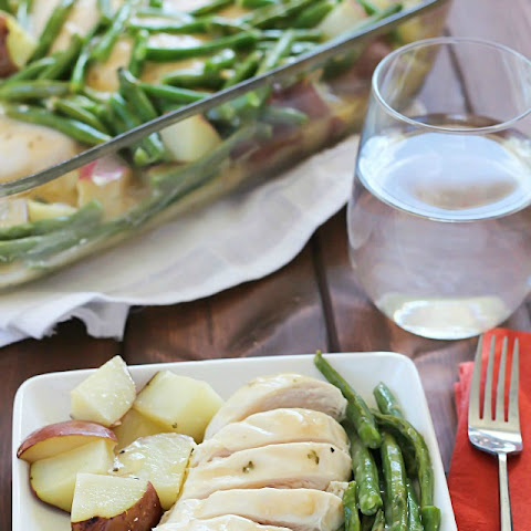 One Pot Garlic Butter Chicken, Green Beans & Potatoes