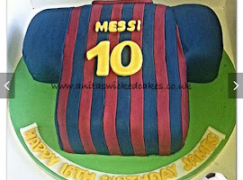 Messi football t shirt cake