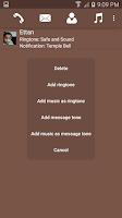 Screenshot of Configure Ringtone