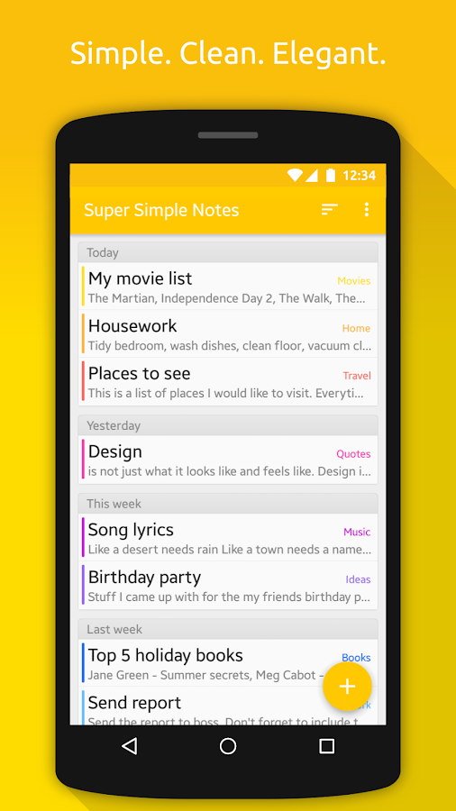 Notes (Super Simple Notes) Screenshot