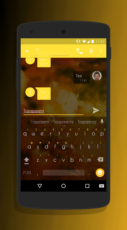 Transparent Gold - CM13 Theme Screenshot 3