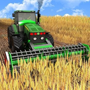 Harvester Tractor Farming Simulator Game Icon