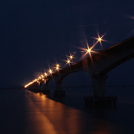by Arka Paul - Buildings & Architecture Bridges & Suspended Structures ( assam, moon, reflection,  )