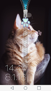 Cats Zipper Lock Screen - screenshot