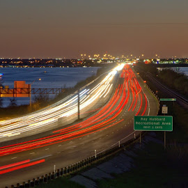 Light trails by Steve Brassil - City,  Street & Park  Street Scenes