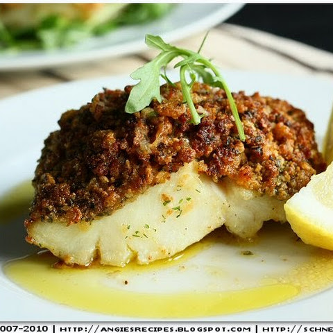 Cornflakes Encrusted Baked Cod Fillets