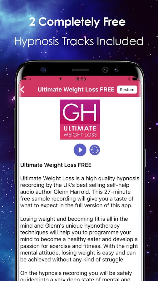 Ultimate Weight Loss Hypnosiotivation Screenshot
