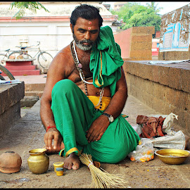 Rama Bhaina 2 by Prasanta Das - People Portraits of Men ( hindu, priest, portrait )