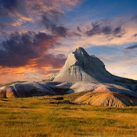 Western Nebraska by Ken Smith - Landscapes Travel ( sugar loaf mountain, sunset, oglala national grassland, landscape, nebraska )