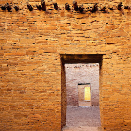Doorways at Chaco Canyon by Dale Kesel - Buildings & Architecture Public & Historical ( chaco canyon, landmark, ancient, precision, pueblo, southwest, stone, ruins, historic, new mexico, native american )
