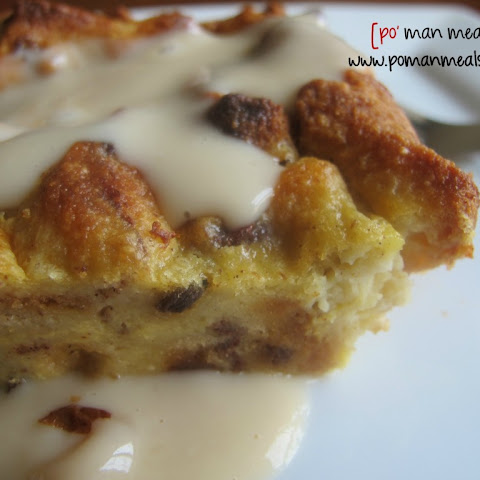 Eggnog Bread Pudding With Vanilla Cream Sauce